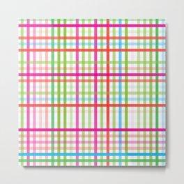 Colorfull square pattern Metal Print