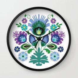 Polish Folk Art Print Wall Clock