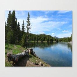 Serene Yellowstone River Canvas Print