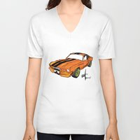 mustang V-neck T-shirts featuring Mustang by Portugal Design Lab