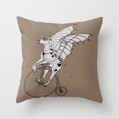 Steam Punk Great Dane Throw Pillow