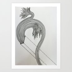 Drawing Weird Stuff Art Print