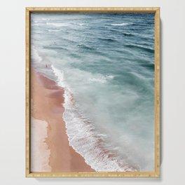 Ocean Print, Beach Sea Print, Aerial Beach Print, Minimalist Print, Beach Photography, Bondi Beach Serving Tray