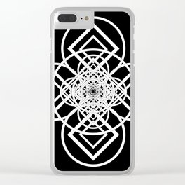 Diamonds Over not Quite Spades Midnight Version Clear iPhone Case