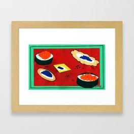 Sophisticated Caviar Framed Art Print