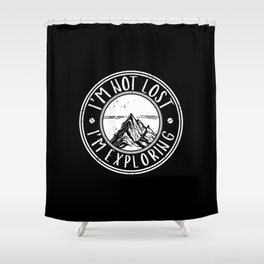 Exploring The Mountains | Hiking Hiker Hike Gifts Shower Curtain