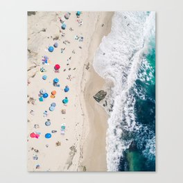 Beachin' it aerial photograph Canvas Print
