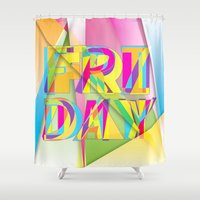 friday Shower Curtains featuring Friday by Cohen McDonald