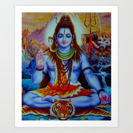 Shiva - Energize your day with his power Art Print