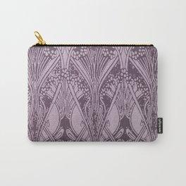 Lavender,art nouveau,vintage,beautiful,floral,belle époque,pattern,elegant, chic,modern,trendy Carry-All Pouch