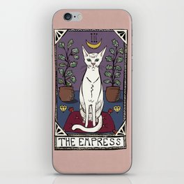 The Empress Tarot Cat iPhone Skin
