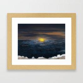 Sunset by the Beach Framed Art Print