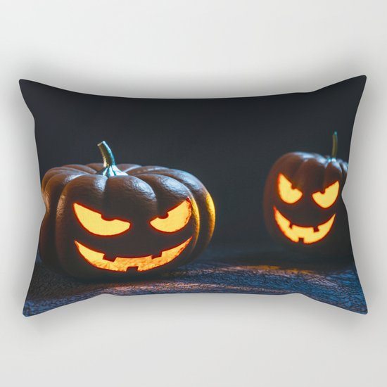 Halloween Pumpkin Lantern Rectangular Pillow