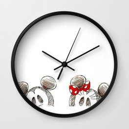 Mickey and Minnie Mouse.  Wall Clock