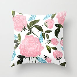 Rosy || Throw Pillow