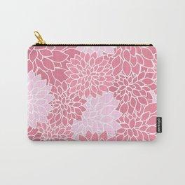 Bubblegum Pink Dahlias Carry-All Pouch