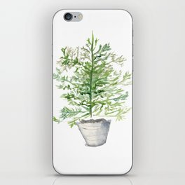 Christmas Tree in Galvanized Bucket iPhone Skin