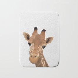 Safari nursery art, Giraffe print, Safari animals wall art, Baby giraffe Bath Mat