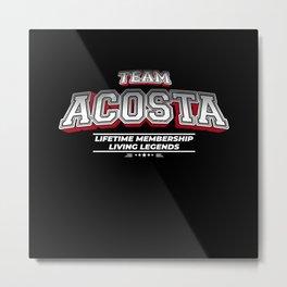Team ACOSTA Family Surname Last Name Member Metal Print
