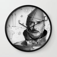 robert downey jr Wall Clocks featuring Robert Downey Jr by Pazu Cheng