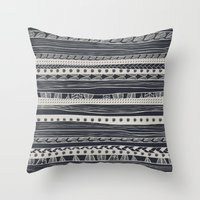 aztec Throw Pillows featuring aztec by spinL
