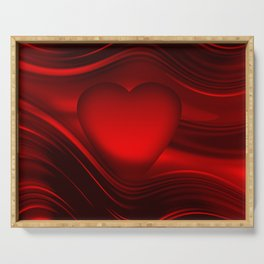 Red heart 16 Serving Tray
