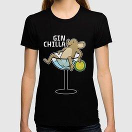 Gin chilla chinchilla in cocktail T-shirt