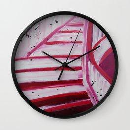 Pink Flight Wall Clock