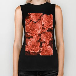 the big vermilion rose Biker Tank