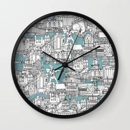 NOTTINGHAM BLUE Wall Clock