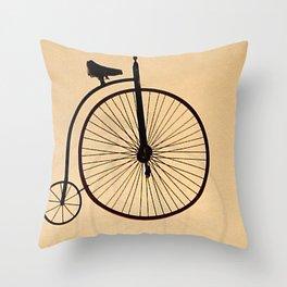 Speedy Bike Throw Pillow