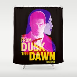 From Dusk Till Dawn II - Richie & Santanico Shower Curtain