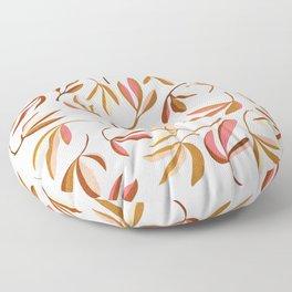 Dancing leaves pink Floor Pillow