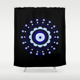 Evil Eye Flower Burst Shower Curtain