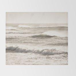 Windswept Waves Throw Blanket