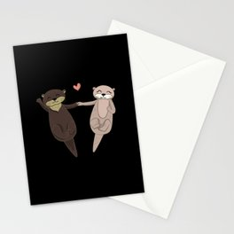 I Otterly Lover You Stationery Cards