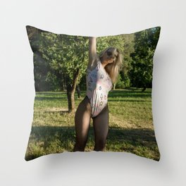 Baywatch on the Shore Throw Pillow