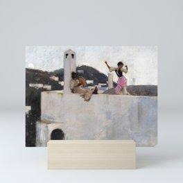 12,000pixel-500dpi - John Singer Sargent - Capri Girl on a Rooftop - Digital Remastered Edition Mini Art Print