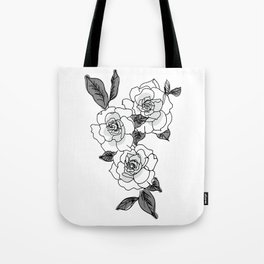 Grayscale Gardenias Tote Bag