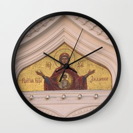 Christian Mosaic In Tallinn Wall Clock