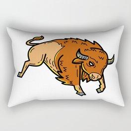 American Buffalo Jumping Mono Line Rectangular Pillow