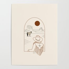 Lost Pony - Rustic Poster