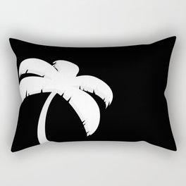 Palm Tree - Black and White Art Rectangular Pillow