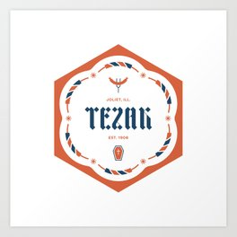Tezak Family Badge Art Print