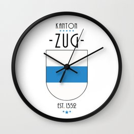 Canton of Zug Wall Clock