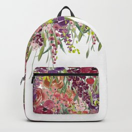 Watercolor Floral Fall Hanging Garden Backpack