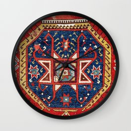 Aksaray Cappadocian Central Anatolian Rug Print Wall Clock