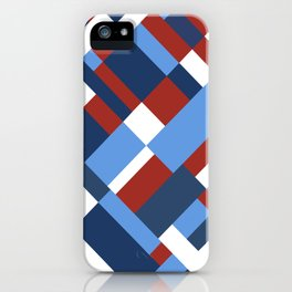 Map 45 Red White and Blue iPhone Case