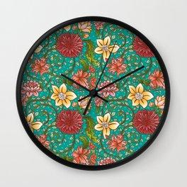 Floral Swirl Wall Clock