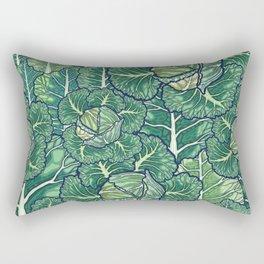 dreaming cabbages Rectangular Pillow